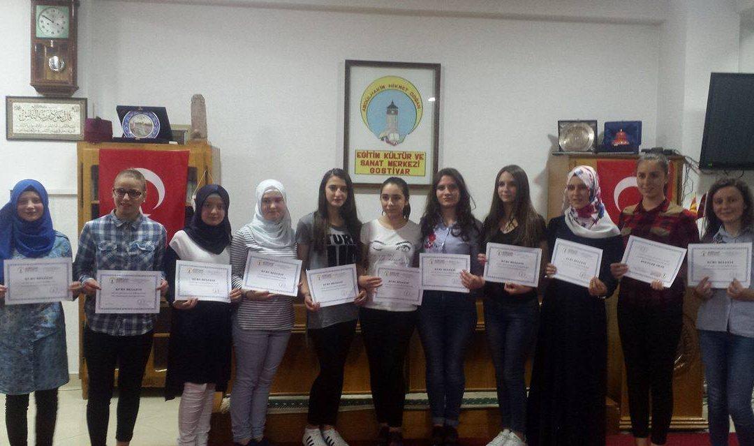 Türkçe Kursu Sertifika Dağıtım Töreni