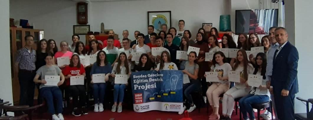 YTB Destekli Kurs Gören Öğrencilere Katılım Belgesi Dağıtımı