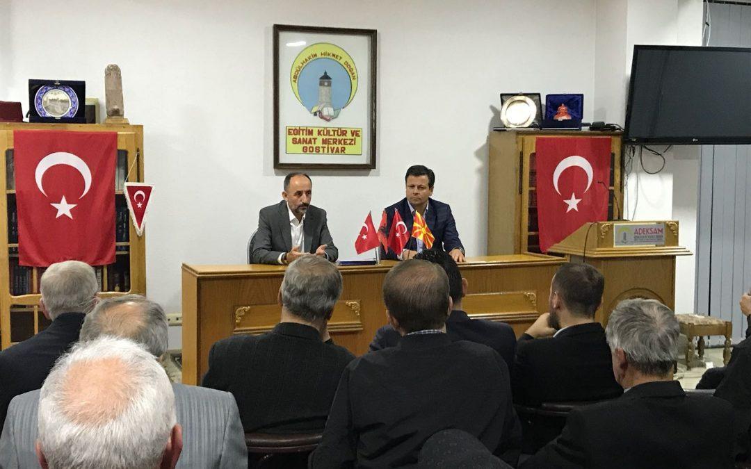 Gostivar Belediye Başkan Adayı ADEKSAM'ı Ziyaret Etti
