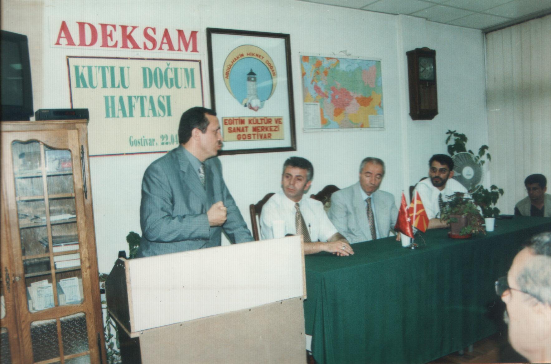 İstanbul Belediyesi Eski Belediye Başkanı Sayın Recep Tayyip Erdoğan ADEKSAM Ziyareti…