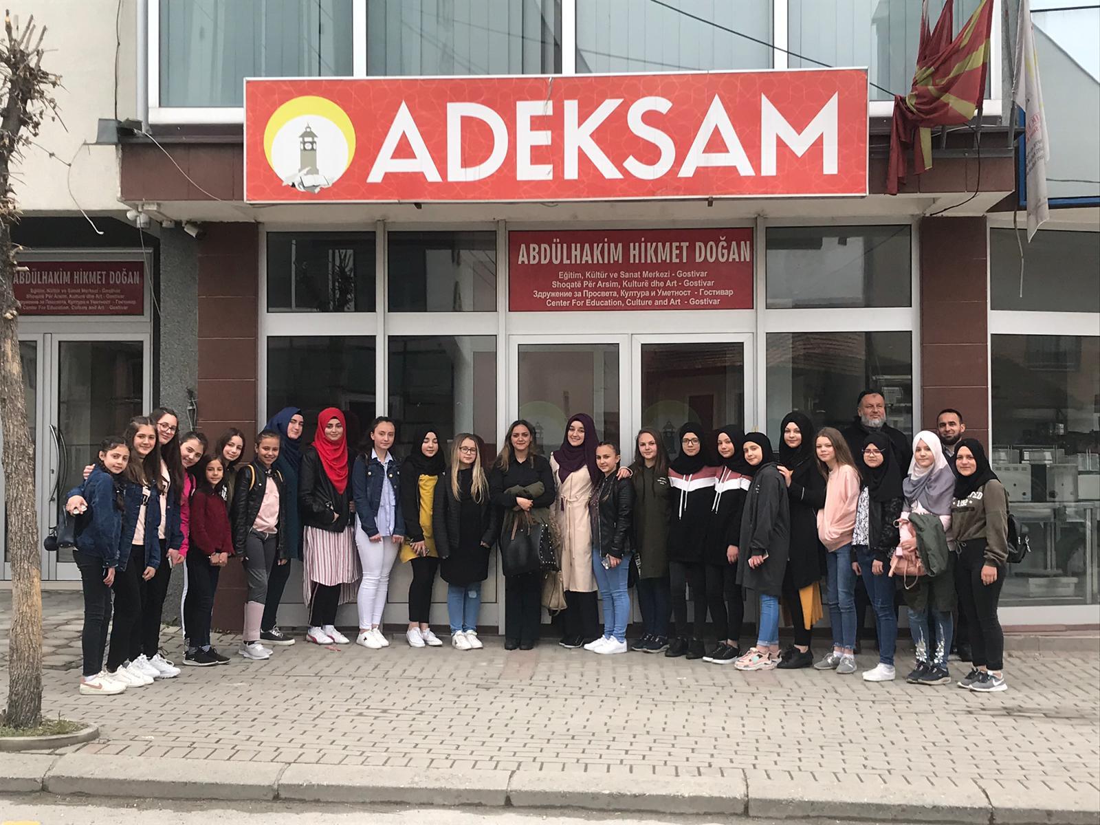 Labunşte ve Podgortsi'de Türkçe Kursuna Katılan Öğrencilerin ADEKSAM Ziyareti