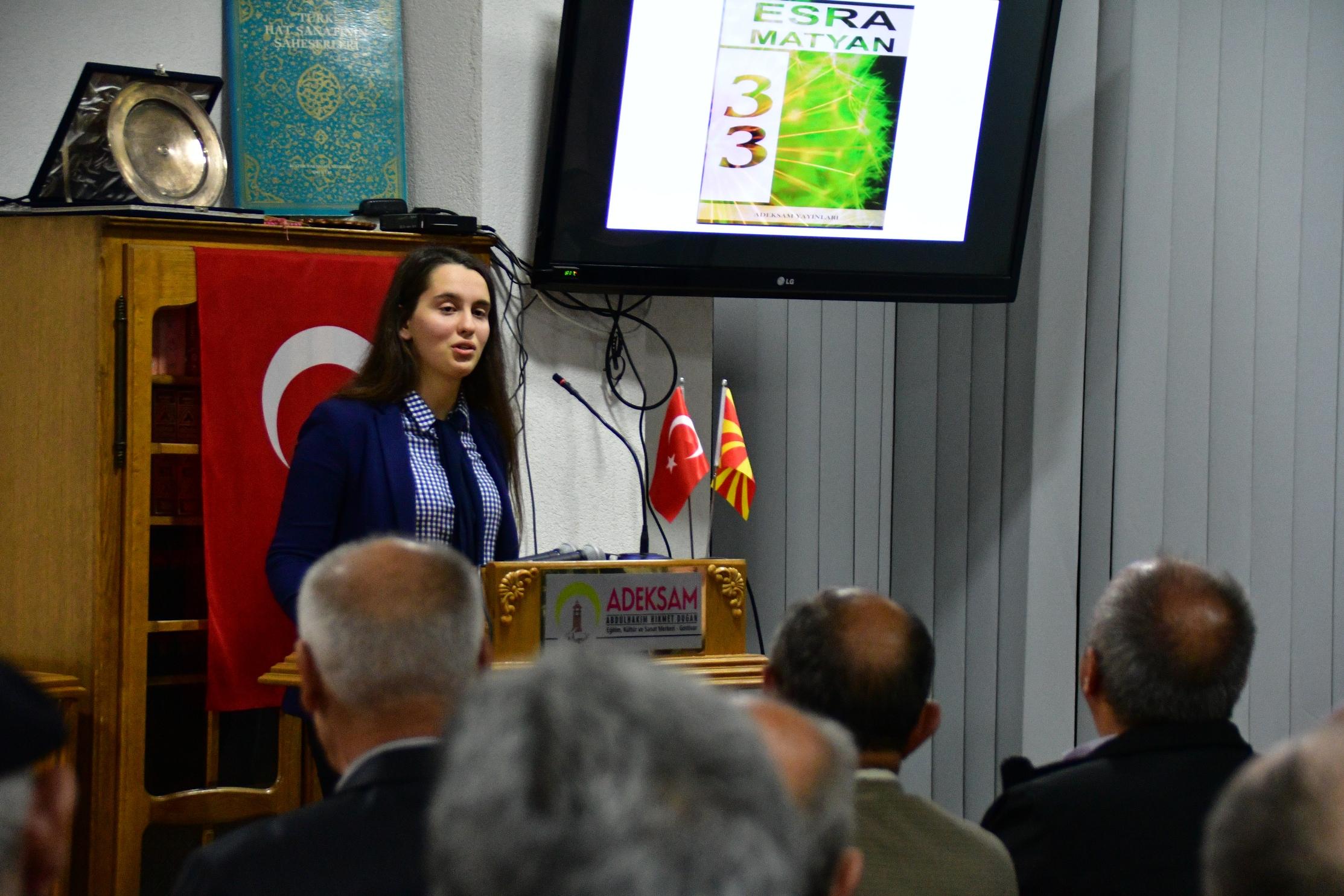 """ADEKSAM'da Esra Matyan'ın """"33"""" Adlı Şiir Kitabı Tanıtıldı"""