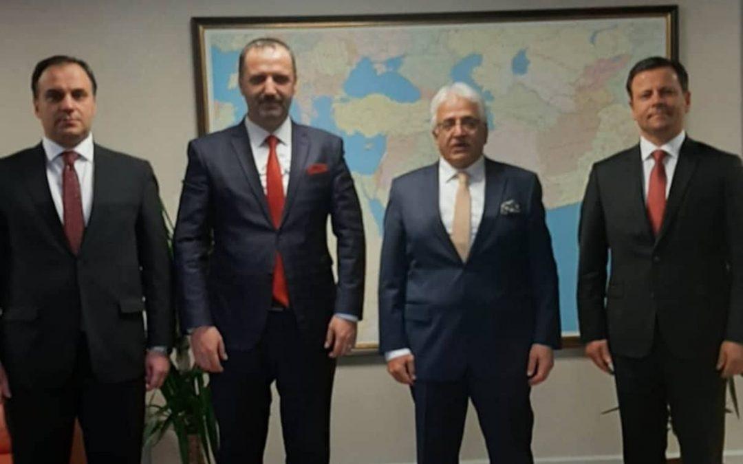 MATÜSİTEB Başkanı Hüsrev Emin, ADEKSAM Başkanı Tahsin İbrahim,  ENSAR Derneği Başkanı Prof.Dr. Süleyman Baki TİKA Başkan Yardımcısı sayın Dr.Mahmut Çevik  ile görüşme gerçekleştirdi.