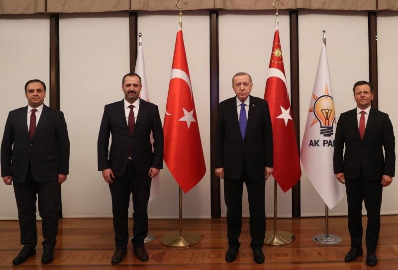 MATÜSİTEB Başkanı Hüsrev Emin, ADEKSAM Başkanı Tahsin İbrahim,  ENSAR Derneği Başkanı Prof.Dr. Süleyman Baki Türkiye Cumhuriyeti Cumhurbaşkanı sayın Recep Tayyip Erdoğan ile görüşme gerçekleştirdi.