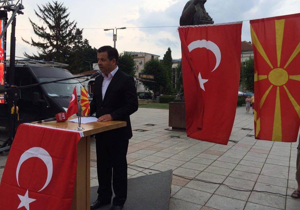 15 Temmuz Milli İradeye Destek, Darbeye Hayır Mitingi Ohri Meydanı