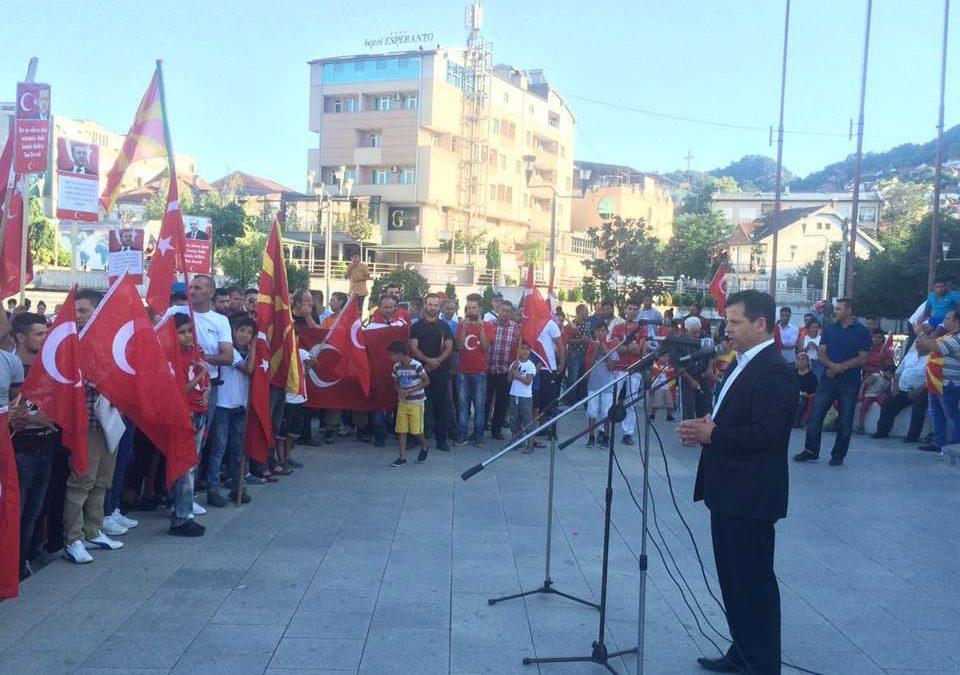 15 Temmuz Milli İradeye Destek, Darbeye Hayır Mitingi Ustrumca Meydanı