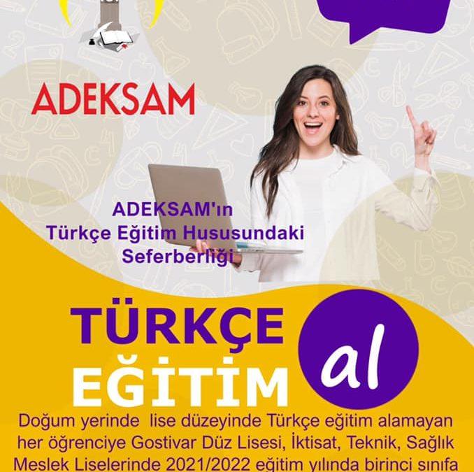 ADEKSAM'ın Türkçe Eğitim Seferberliği